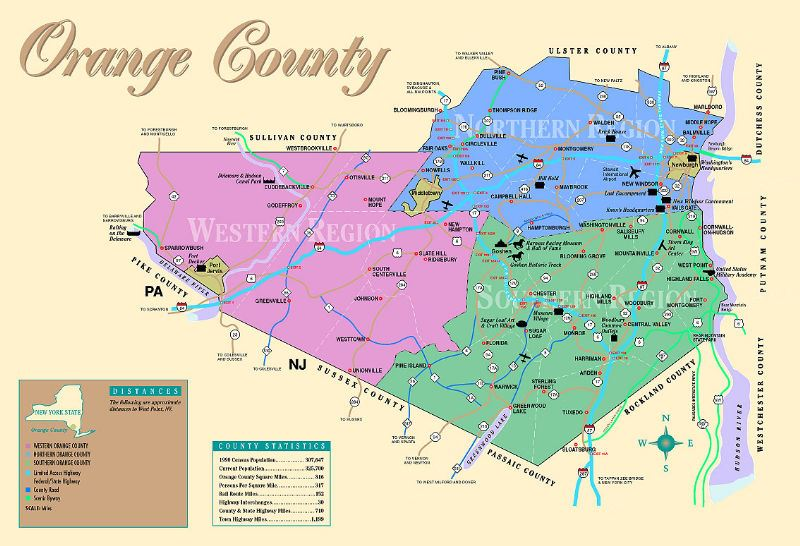 Map of Orange County