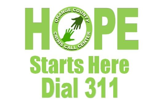 Hope Starts Here for the Orange County Crisis Call Center logo with phone number 1-800-832-1200 Opens in new window